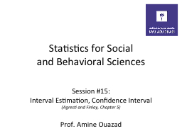 Statistics  for Social and