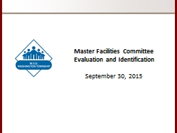 Master Facilities Committee