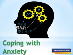 Coping with Anxiety What is anxiety?