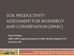 Soil productivity Assessment for Bioenergy and Conservation (
