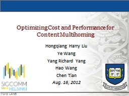 Optimizing Cost and Performance for Content