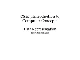 CS105 Introduction to  Computer Concepts
