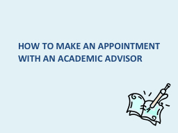 How to make an appointment with an academic advisor