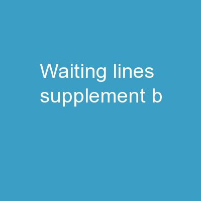 Waiting Lines Supplement B