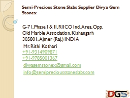 Semi-Precious Stone Slabs Supplier Divya Gem Stonex