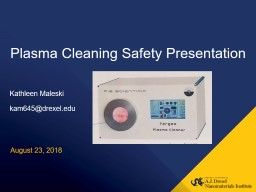 Plasma Cleaning Safety Presentation