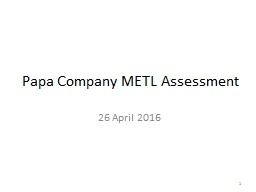 Papa Company METL Assessment