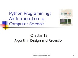 Python Programming, 3/e 1 PowerPoint Presentation, PPT - DocSlides