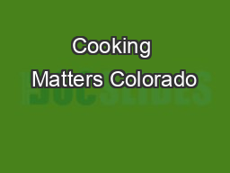 Cooking Matters Colorado