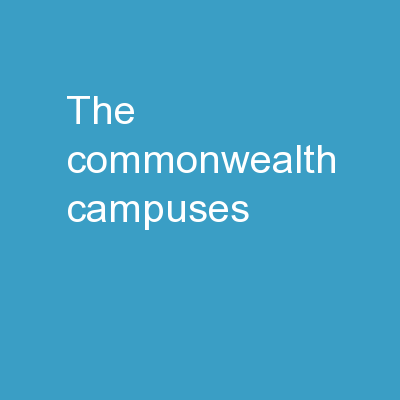 The  Commonwealth  Campuses
