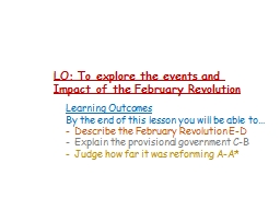 LO: To explore the events and PowerPoint PPT Presentation