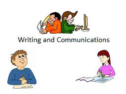 Writing and Communications