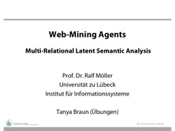 Web-Mining  Agents     Multi-Relational Latent Semantic Analysis