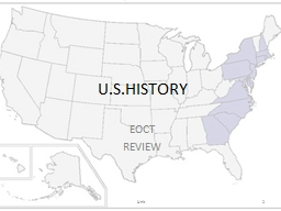 U.S.HISTORY EOCT REVIEW Unit