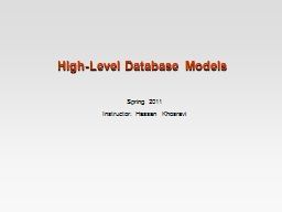 High-Level Database Models