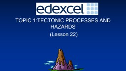 TOPIC 1:TECTONIC PROCESSES AND HAZARDS
