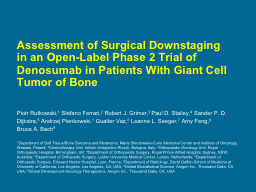 Assessment of Surgical Downstaging