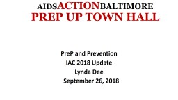 AIDS ACTION BALTIMORE PREP UP TOWN HALL