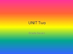 UNIT Two Grade Seven 1. available (