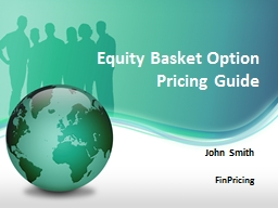 Equity  Basket Option Pricing