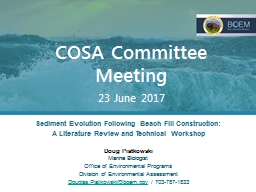 COSA Committee  Meeting