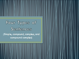 Four Types of Sentences (