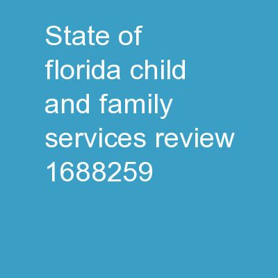State of Florida Child and Family Services Review