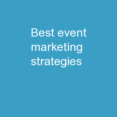 Best Event Marketing Strategies
