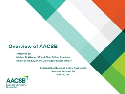 AACSB Accreditation Update and Lifelong Learning Trends
