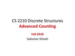 CS  2210 Discrete  Structures