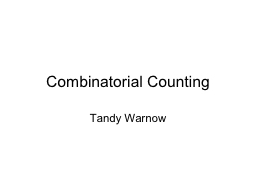 Combinatorial Counting Tandy Warnow