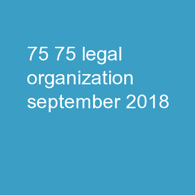 75% 75% Legal Organization September 2018