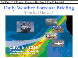 Daily Weather Forecast Briefing