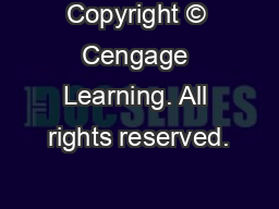 Copyright � Cengage Learning. All rights reserved.