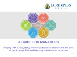 A GUIDE FOR  MANAGERS H elping JHM