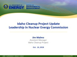 Idaho Cleanup Project Update