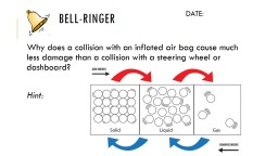 Bell-Ringer  Why does a collision with an inflated air bag cause much less damage than a collision