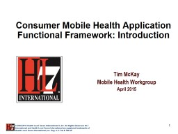 Tim McKay Mobile Health Workgroup