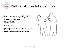 Partner Abuse Intervention