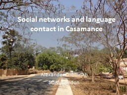 Social networks and language contact in
