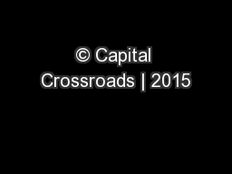 � Capital Crossroads | 2015