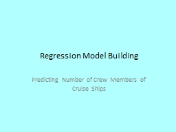 Regression Model Building