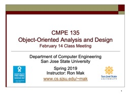 CMPE 135 Object-Oriented Analysis and Design