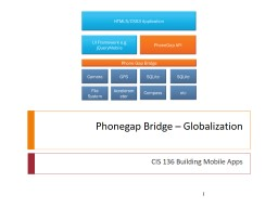 Phonegap  Bridge – Globalization