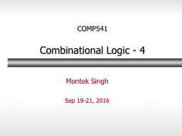 1 COMP541 Combinational Logic -
