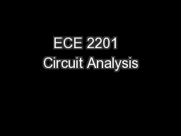 ECE 2201  Circuit Analysis