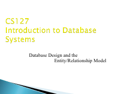 Database Design and the