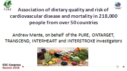 Association of dietary quality and risk of cardiovascular disease and mortality in 218,000 people f