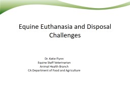 Equine Euthanasia and Disposal Challenges
