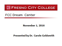 FCC Dream Center November 1, 2016 PowerPoint PPT Presentation